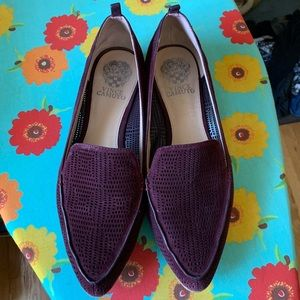 Vince Camuto size 9.5 burgundy suede flats